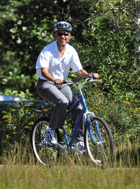 LOL Obama Hard Core Cycling
